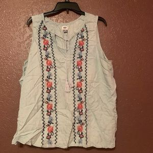 Old navy tie neck chambray tank